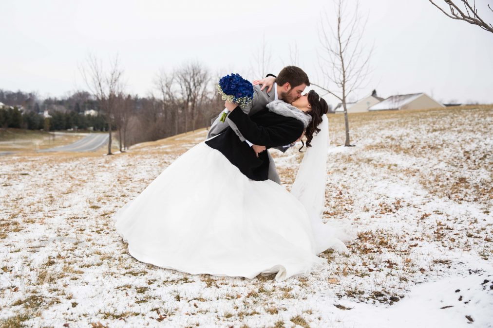 Jacob and Holly's Snowy Purcellville Wedding