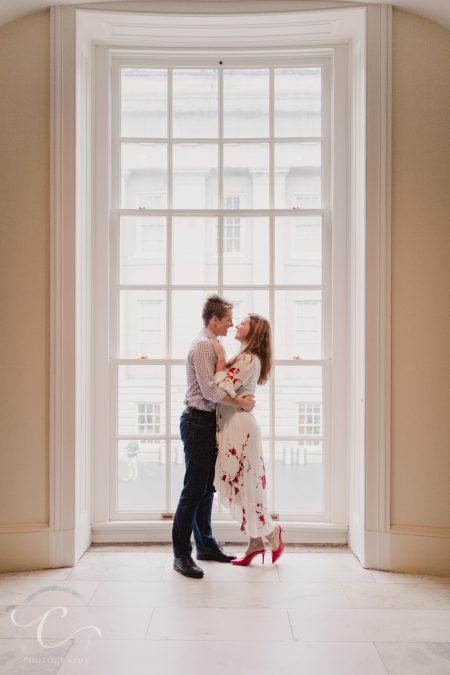 John and Mackenzi's National Portrait Gallery Engagement Session in DC