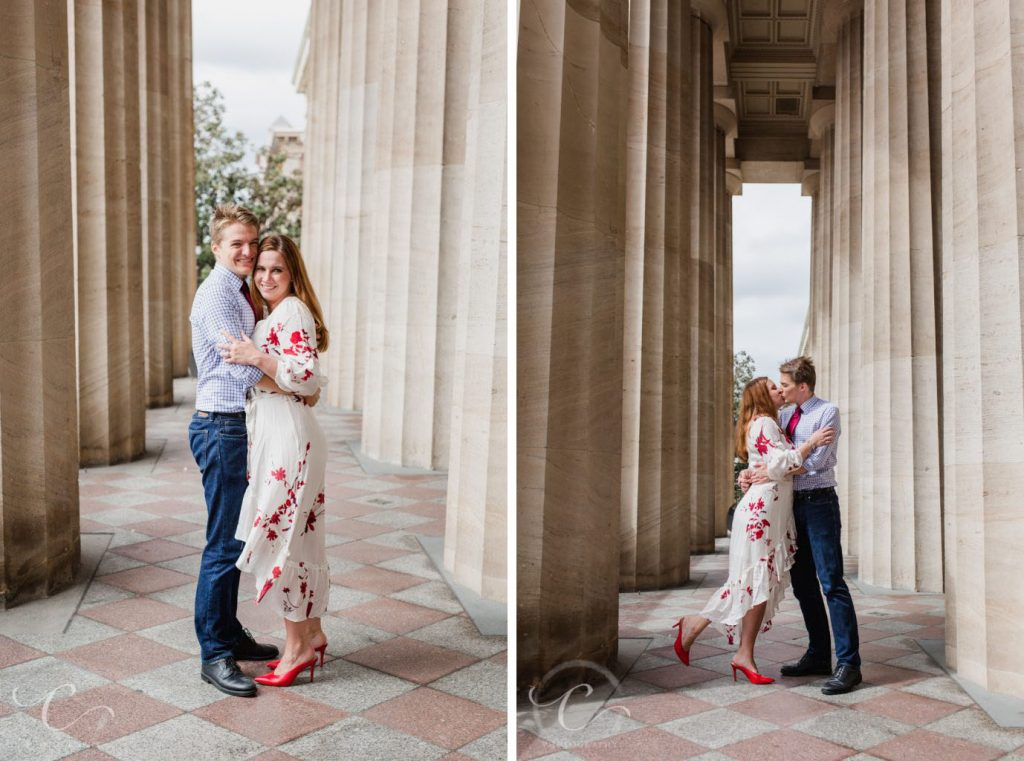 National Portrait Gallery Engagement Pictures in Washington DC