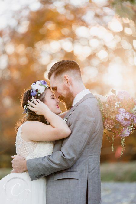Jon and Lydia's Fall Wedding at Landfall Lodge