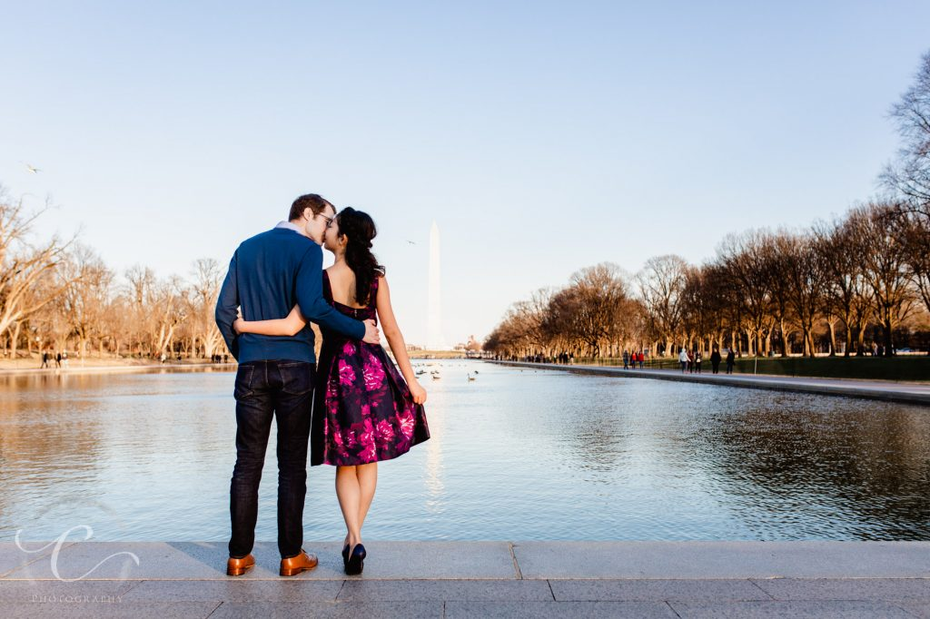 Levi and Mindy Georgetown Waterfront Engagement Photos